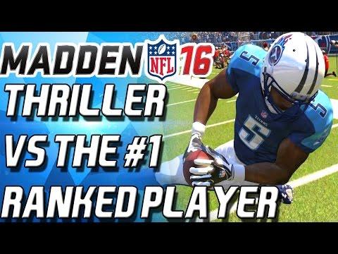 THRILLER VS #1 MADDEN PLAYER! - Madden 16 Ultimate Team Salary Cap