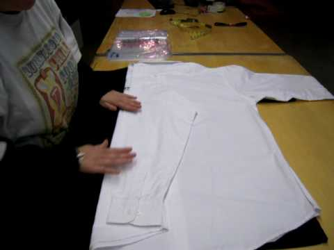 How to fold a long sleeved shirt youtube for The queensboro shirt company