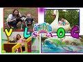 Видео для детей Парк отдыха и аттракционов Сказка Настя и Вова веселяться Прогулка с Хаски