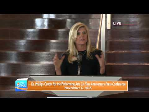 Dr. Phillips Center For The Performing Arts 1st Anniversary Press Conference
