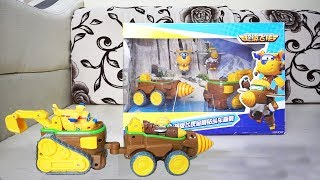 Newest Transformation Super Wings Deformation Todd and Donnie Dig Rig Robot - Toys reivew for kids