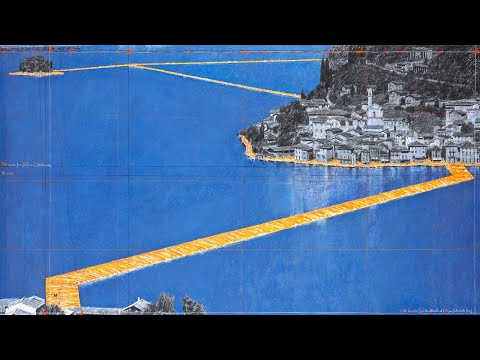 Christo, The Floating Piers, across the water of Lake Iseo