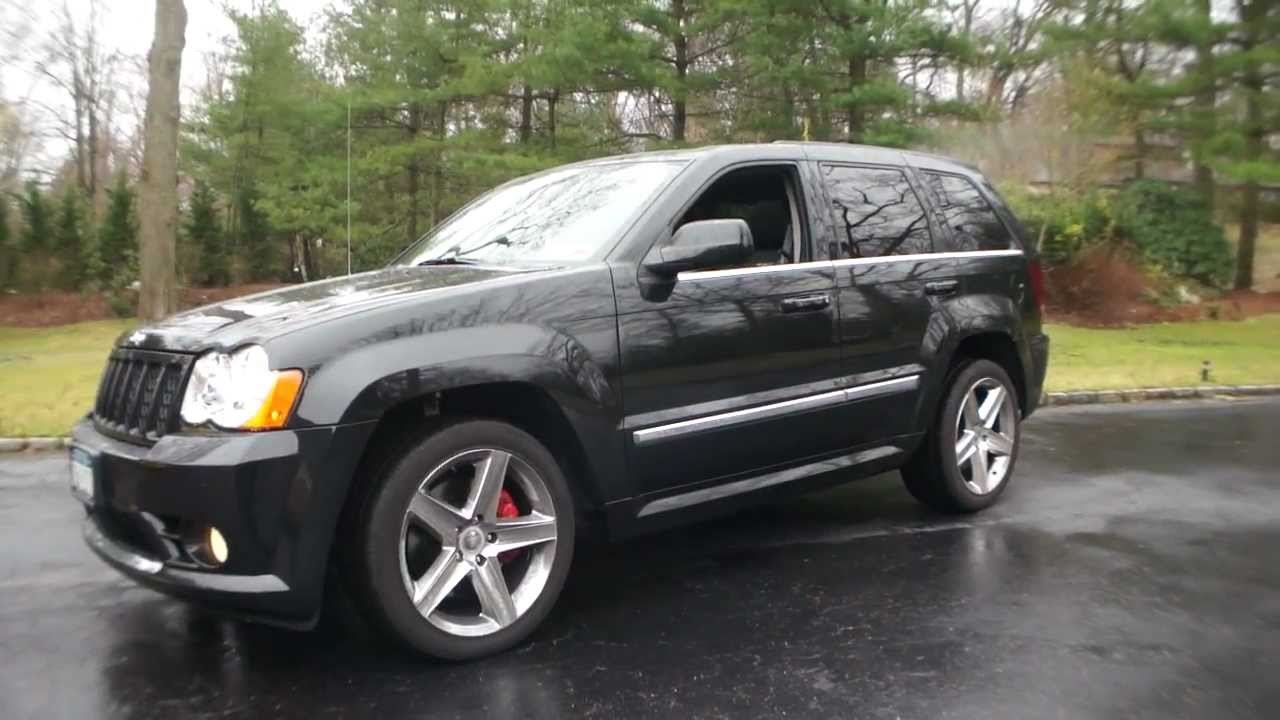 sold 2009 jeep grand cherokee srt8 for sale black on black. Black Bedroom Furniture Sets. Home Design Ideas