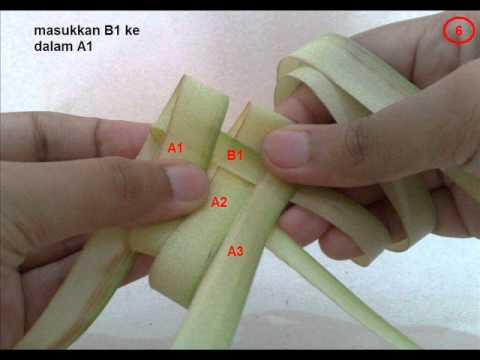 cara anyaman ketupat (dengan sub title)