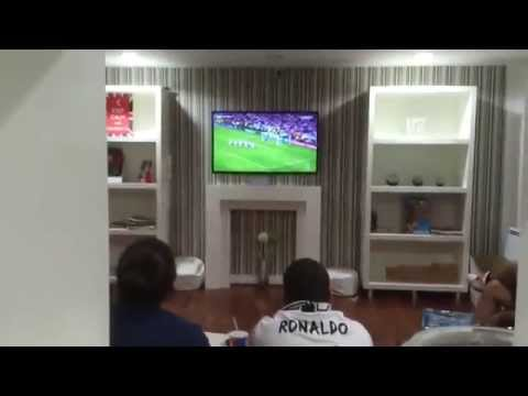 (PART 1) 2014 Champions League Sergio Ramos Goal Fans/Madridista Reaction. Real Madrid