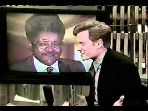 CONAN O BRIEN, 12 17 96  DON KING ON THE TELESCREEN