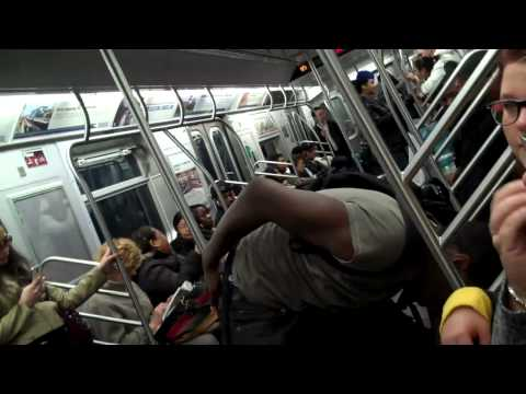 F Train Drama! Only in New York City!