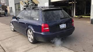 B5 Audi A4 Avant wagon testpipe & full exhaust