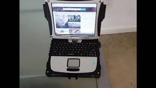 Tossing a Panasonic Toughbook CF-19 rugged laptop on the ground a few times
