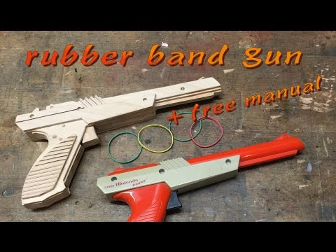 NES Zapper rubber band gun: DIY + free manual