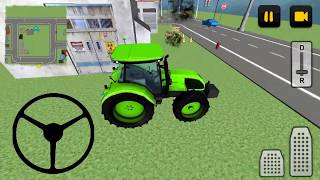 Luxury Car Transporter 3D #3 Tractor car transport game, tractor cartoon video