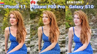 iPhone 11 VS Huawei P30 Pro VS Samsung Galaxy S10 - Camera Comparison!