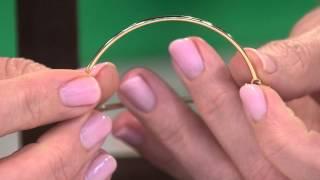 14K Gold Adjustable Love Bangle Bracelet 2.3g with Jennifer Coffey