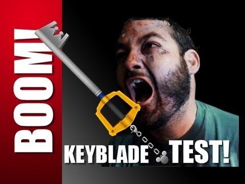 KINGDOM HEARTS KEYBLADE TEST!  ZOMBIE GO BOOM