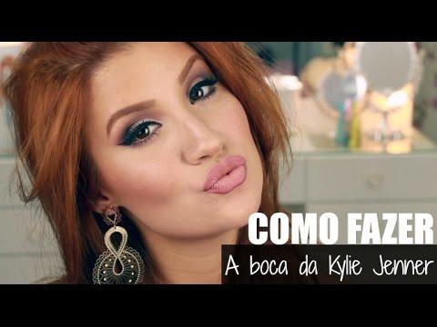 Como fazer a boca da Kylie Jenner - #TutorialRapidinho