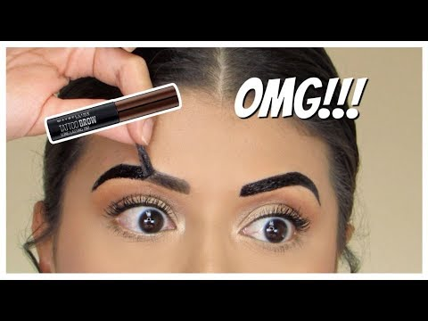 OMG!!! NEW Maybelline Tattoo Studio Brow TINT!   Review