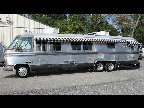 Walk Through 1987 Airstream Classic 345 Vintage Motorhome Bus GMC NASA Astrovan