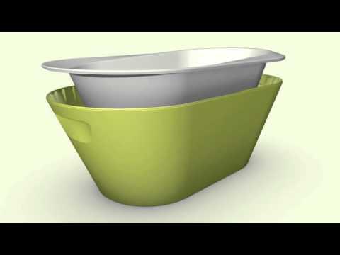 AmelucaBaby - vaschetta da bagno per bambini Hoppop Bato+ - YouTube