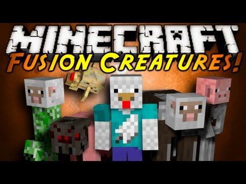 Minecraft Mod Showcase : FUSION CREATURES!