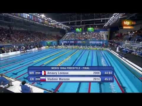 Men's 100m freestyle final 12th FINA World Swimming Championships (25m) Doha 2014