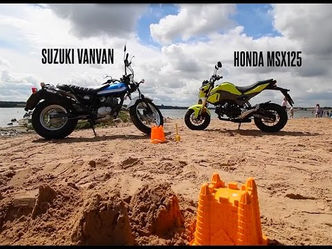 The Fun Bike Review: Honda MSX125 Grom vs Suzuki VanVan   Bike Social