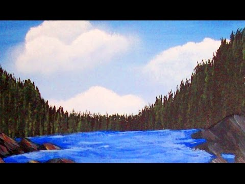 Acrylic Painting Lesson 3 How to paint Fir Trees