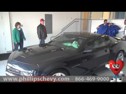 2013 Chevy Camaro Birthday Surprise Phillips Chevrolet - New Car Dealer Sales Chicago Dealership