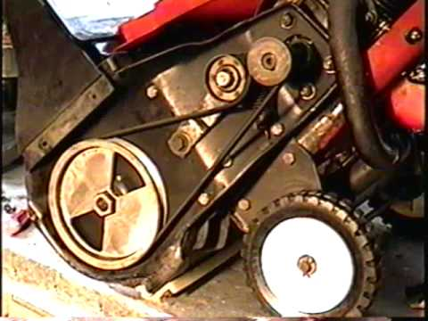 HOW TO REPLACE THE BELT ON YOUR SINGLE STAGE 2 CYCLE SNOWTHROWER