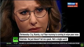 Jewess Ksenia Sobchak Gets Challenged That Russia Suffered Under Oligarchs (Jews) For 30 Years