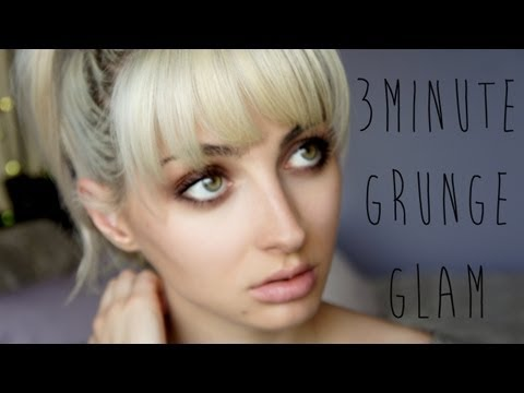 3 Minute Grunge Glam Makeup Tutorial (HD)