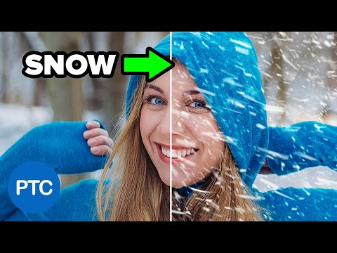 How to Create SNOW in Photoshop - Make REALISTIC Snow - Photoshop Tutorial