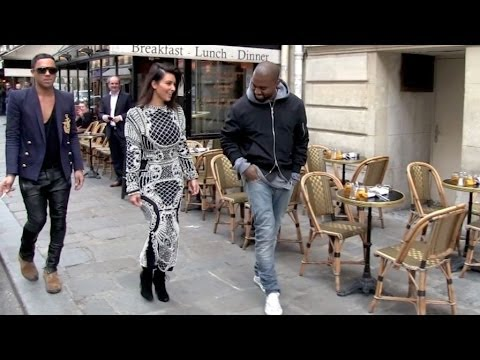 EXCLUSIVE - Kim KARDASHIAN and KANYE West in LOVE in PARIS