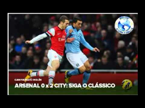 Premier League: Arsenal 0x2 Manchester City - 13/01/13
