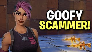 Exposing a Really Goofy Scammer! (Scammer Get Scammed) Fortnite Save The World