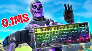 Trying out the FASTEST KEYBOARD in Fortnite... (Mongraal's Keyboard)