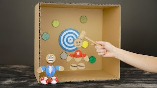 DIY How to Make Kick the Buddy Game from Cardboard