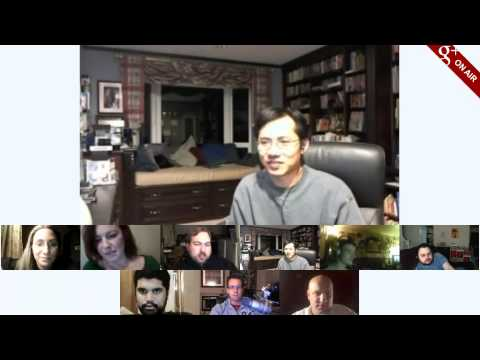 Augmented Video-blogging Hangout featuring the Kopin Golden-i at CES 2012