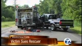 Victim sues rescuer