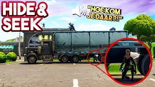 HIDE AND SEEK #13!! - Fortnite Playground ft. Rudi & Eva (Nederlands)