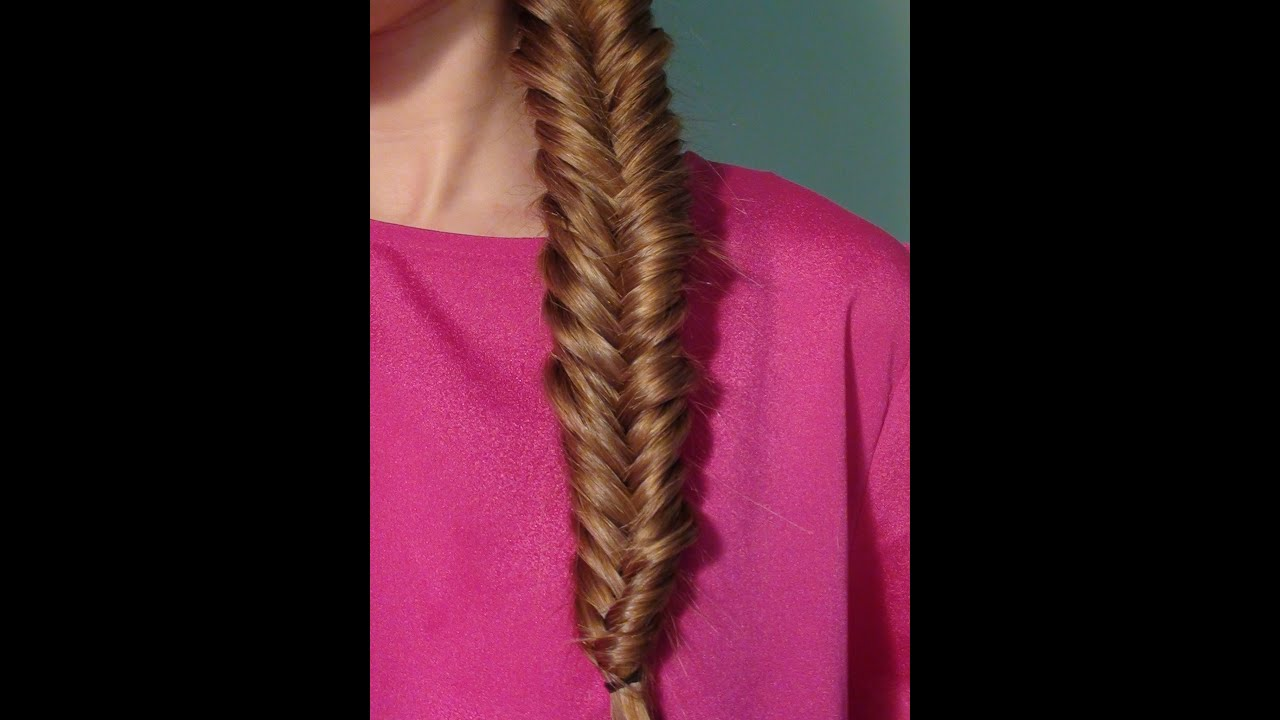 Fishtail braid tutorial youtube for Fish tail hair