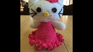 Tuto Hello kitty au crochet 1/2