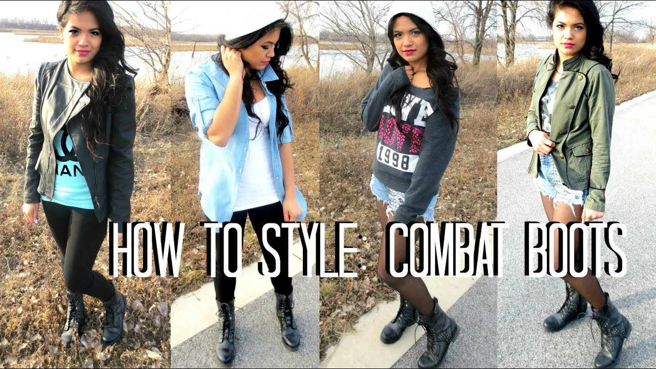 how to style combat boots youtube