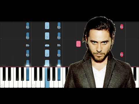 Thirty Seconds To Mars - Walk On Water (Piano Tutorial)