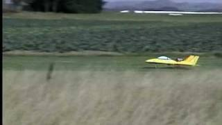 Jet model airplane crash