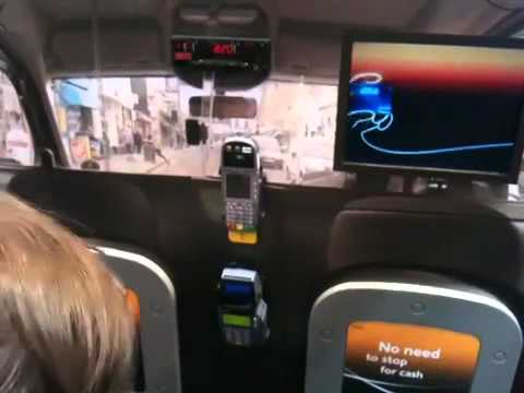 Card payment in London cab