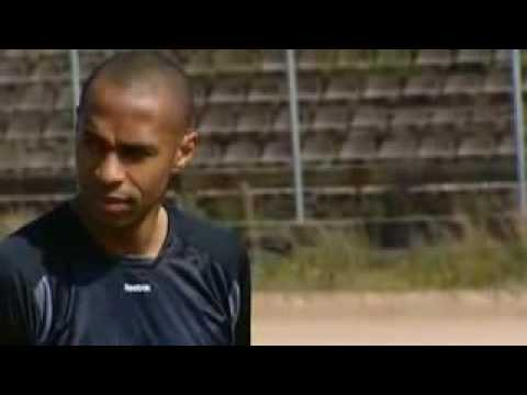 Thierry Henry tests new soccer shoes REEBOK