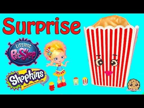Popcorn Toy Surprise Of Hello Kitty, Shopkins Season 3 + More Blind Bags - Cookieswirlc Video