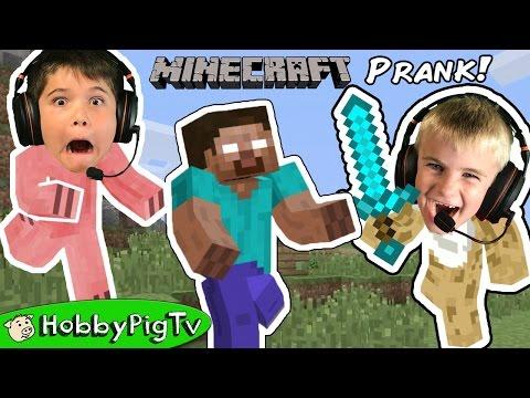 Minecraft HobbyFrog Adventure Prank Portal HobbyPigTV