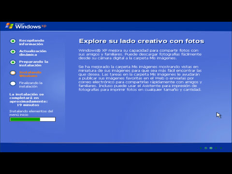 Instalación de windows xp