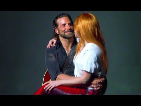 A Star Is Born behind-the-scenes footage Lady Gaga Bradley Cooper Barbra Streisand